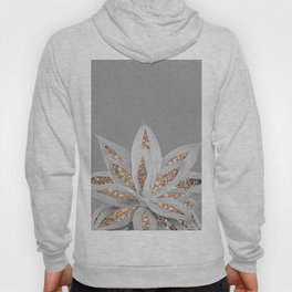 Gray Agave with Gold Glitter #1 #shiny #tropical #decor #art #society6 Hoody