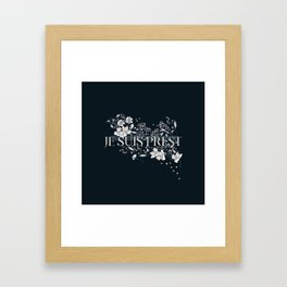 JE SUIS PREST Framed Art Print
