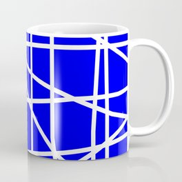 Doodle (White & Blue) Coffee Mug