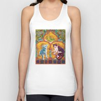 golden girls Tank Tops featuring Golden Temple of the Good Girls by Susan Carlson