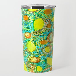 Abstract Citrus pattern drawing Travel Mug