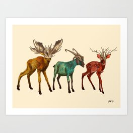 Babes in Woodland (Trio) Art Print