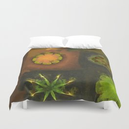 Squirm Bared Flowers  ID:16165-120806-85390 Duvet Cover