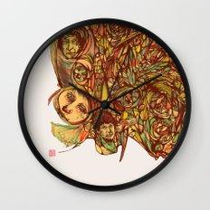 Somebody's Family Portrait Wall Clock