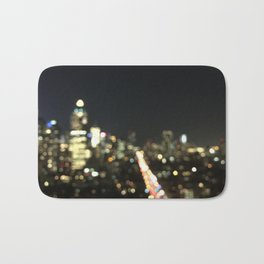 """""""Bright Lights In New York City"""" by Simple Stylings Bath Mat"""