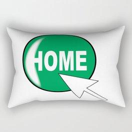 Computer Icon Home Rectangular Pillow