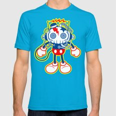 skull bolt Teal X-LARGE Mens Fitted Tee