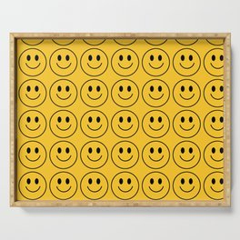 Smiley Face Pattern - Super Yellow Variant Serving Tray