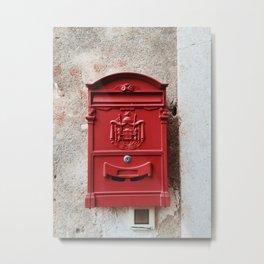 Red mailbox, Split, Croatia Metal Print