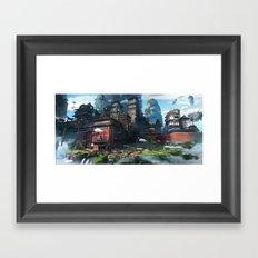 Massive City Framed Art Print