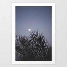 Moonrise over Los Angeles Art Print