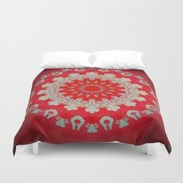 Bright Red Mandala Duvet Cover