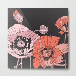 poppies in pinks and reds Metal Print
