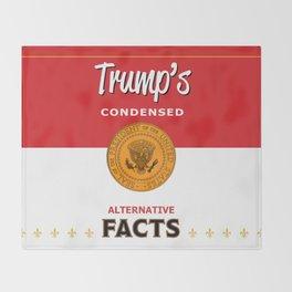Trump's Alternative Facts Soup Throw Blanket