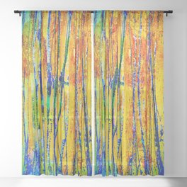 into the woods Sheer Curtain