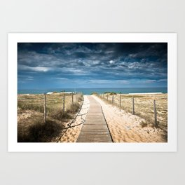 Dunes of Hossegor, France, 2013 Art Print