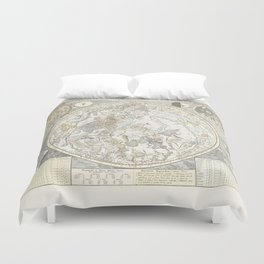 Star map of the Southern Starry Sky Duvet Cover
