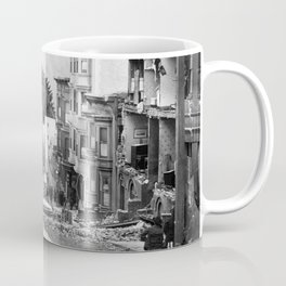 Old Time Godzilla San Francisco Earthquake Coffee Mug
