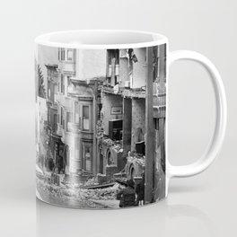 Old Time Godzilla San Francisco Earthquake Coffee Mug