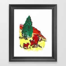Big moo, wee moo (colored version) Framed Art Print