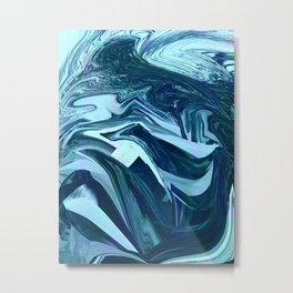 Turquoise + Teal Marble Metal Print