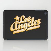 los angeles iPad Cases featuring Los Angeles by GetSolidGold