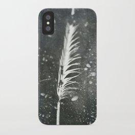 Feather on Black Sand Beach iPhone Case