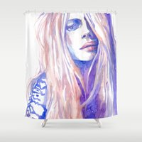 cara Shower Curtains featuring Cara by Ava Carmen