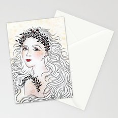 Silver and Ivory Stationery Cards