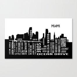 Skyline Miami Canvas Print