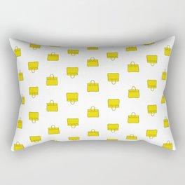 Lemon Yellow Birkin Vibes High Fashion Purse Illustration Rectangular Pillow