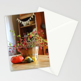 Country Fall Rose Hips Stationery Cards