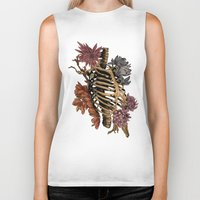 bones Biker Tanks featuring Bones by Zé Pereira Illustration