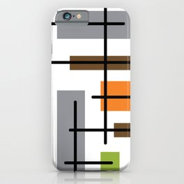 Mid Century Modern Cubicle Art iPhone Case