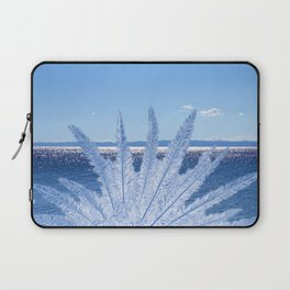 Blue Palm in the sea Laptop Sleeve