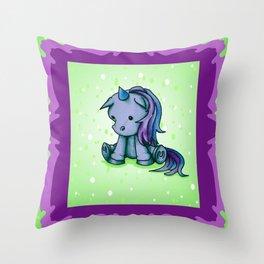 Itty Bitty Unicorn Throw Pillow