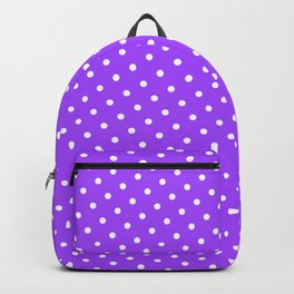 Pastel Goth Pastel Purple Retro Polka Dot (White) Backpack