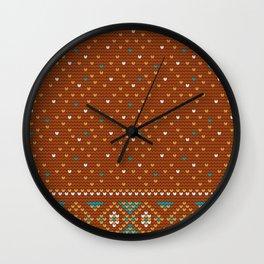 Pattern in Grandma Style #47 Wall Clock