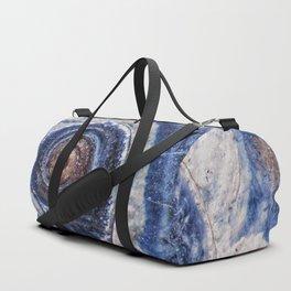 Blue spiral sea snail Duffle Bag