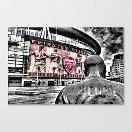 Thierry Henry Statue Emirates Stadium Art Canvas Print