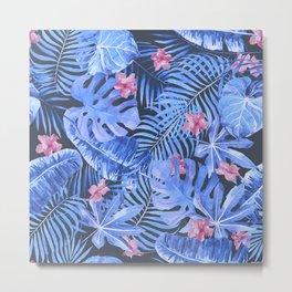 Palm Leaves Pattern 12 Metal Print