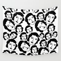 women Wall Tapestries featuring Women by Emmanuelle Ly