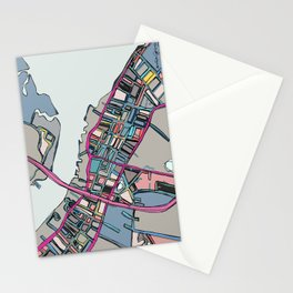 Abstract Map Newburyport Stationery Cards