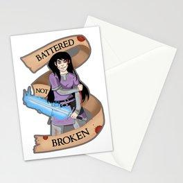 Battered Not Broken v.2 Stationery Cards