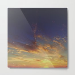 Sunset from the Mountain Metal Print