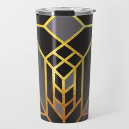 Art Deco Leaving A Puzzle In Grey Travel Mug