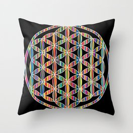 Flower of Life Colored | Kids Room | Delight Throw Pillow