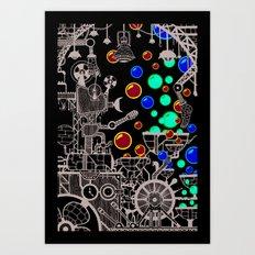 The Bubble Machine Art Print