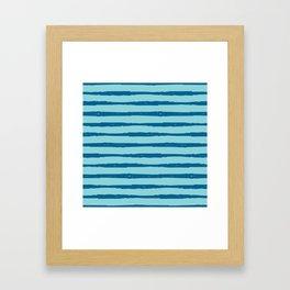 Beach Sparkle Nautical Stripe Framed Art Print