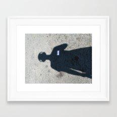 untitled self-portrait Framed Art Print